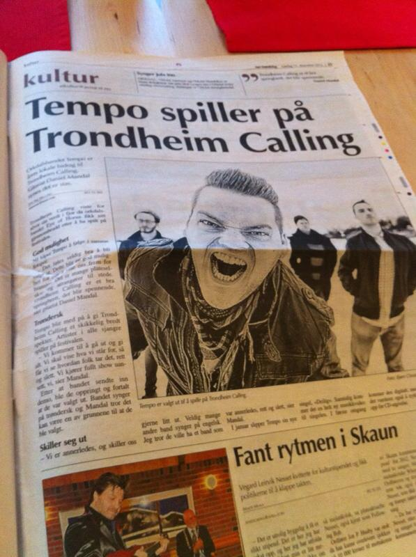 Tempo got published in Sr-Trndelag Distriktsavis